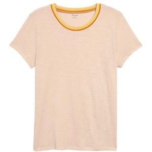 Madewell Whisper Cotton Stripe Ringer Tee Size S
